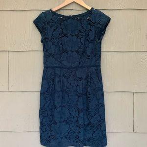 Nanette Lepore | Blue Eyelet Dress | 4
